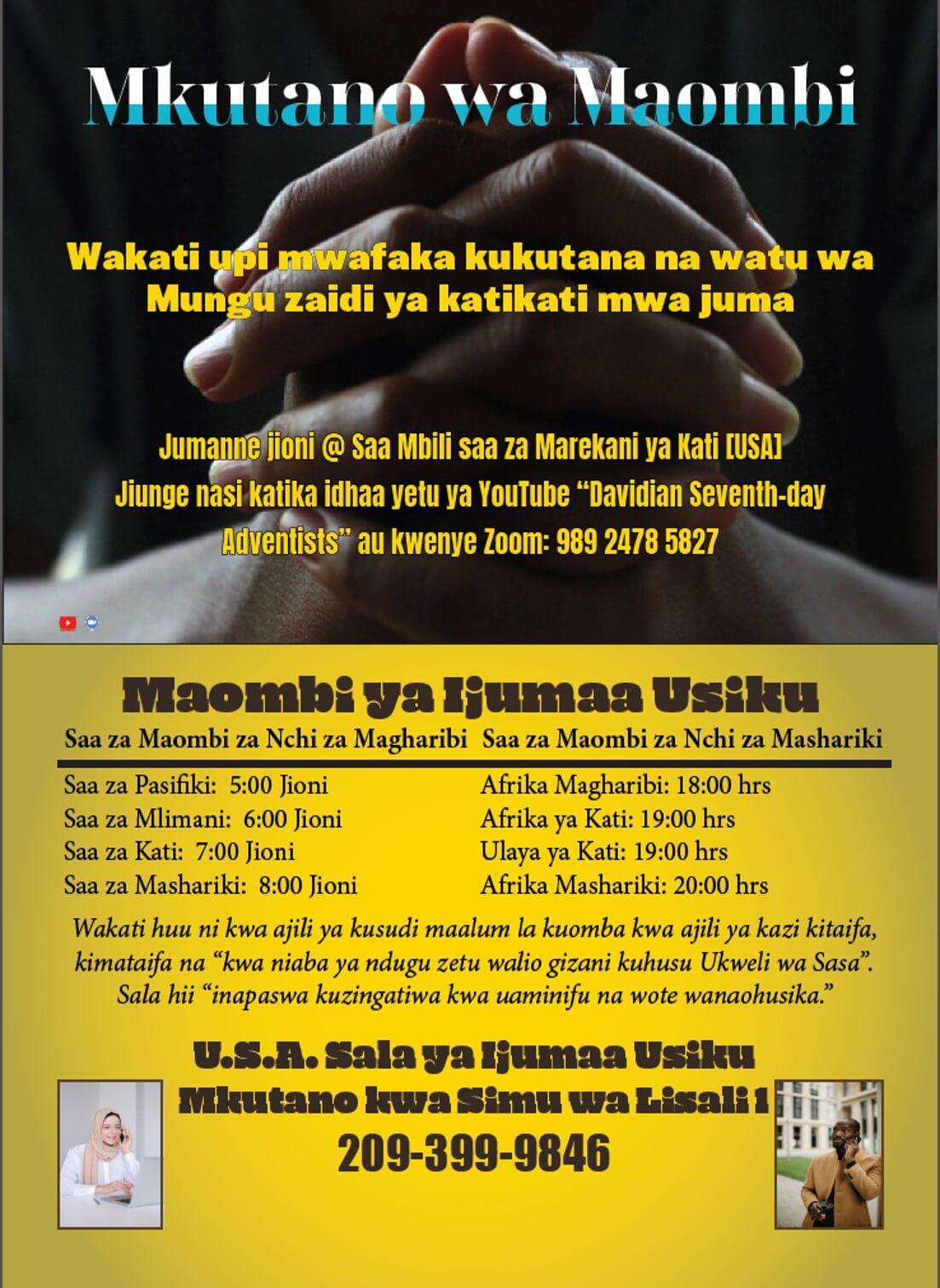 Advert Of Midweek Prayer Meeting. Volume 2021 The Symbolic Code Nos.